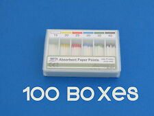 Absorbent PAPER POINTS Numbers 15-40 Sterilized Kit /100 Boxes 200 Points META