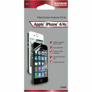 WriteRight CRC94059 Screen Fitted Protector For Apple IPhone 4, 4S - 2 Pack