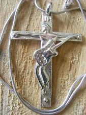 Johnny Hallyday Pendentif  grande Croix ARGENT MASSIF 925 gravé  johnny hallyday