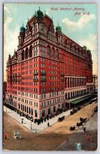 Hotel Waldorf-Astoria in New York City 173rd Street Divided Back Postcard