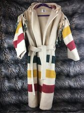 WOOLRICH COAT HUDSON BAY RENDEVOUS CAPOTE HOODED FRINGE WOOL VINTAGE COAT RARE