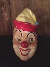 Vintage Clown Face ceramic Piggy Bank Pandora Product Japan with Cork