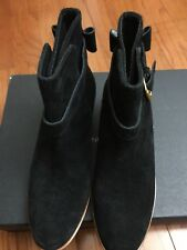 cf336a67092b Kate Spade Black Suede Taley Ankle Bootie Womens Size 5 Gold Buckle