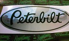 60 Peterbilt Chrome vinyl Decals Semi Truck custom sticker decal Grill Hood Side