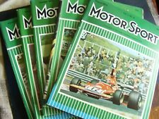 VINTAGE JOB LOT X 5  1974 MOTOR SPORT CAR AUTO MAGAZINES MOTORING AUG - DEC