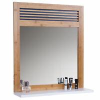 Arredo bagno serie HWC-A85 legno bambu e MDF specchio