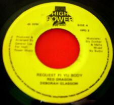"Red Dragon & Deborah Glasgow Request Fi Yu Body JA 7"" Dancehall High Power VINYL"
