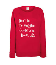 Harry Potter - Don't Let The Muggles - Ladies Sweatshirt - 100% Cotton