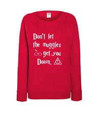 Harry Potter - Don't Let The Muggles - Ladies Sweatshirt - 100% Cotton