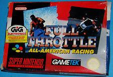 Full Throttle - All-American Racing - Super Nintendo SNES Nintendo - PAL