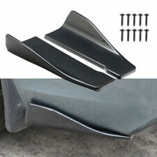 Universal Carbon Fiber Look Side Skirt Rear Bumper Lip Splitter Winglet Aprons