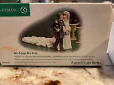 Dept 56 Alpine Village Here Comes the Bride - 56300 New In Box 4 inches long