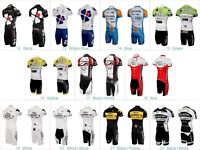 Men's Cycling Jersey Kits Bike Bicycle Team Clothing Shirt Padded Shorts Set