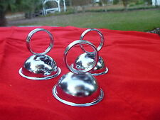 12 Silver Tone Metal Round Half Sphere RingClip Table Place Card Menu Holder Lot