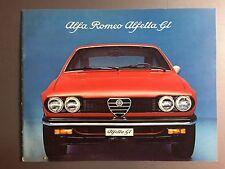 1975 Alfa Romeo Alfetta GT Brochure RARE!! Awesome L@@K