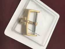 Authentic Omega 18mm Stainless Steel Gold Plated Buckle Clasp