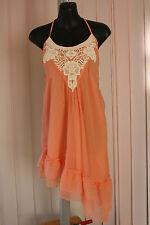 LIPSY BNWT Orange with White Crochet Trim Size 6 Orange Party Dress