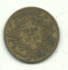 A VERY NICELY DETAILED 1926 TUNISIA 1 FRANC COIN-JUN082