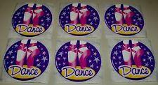 "6 ct. DANCE  2.5"" x 2.5"" Party Favor Stickers"