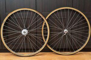 Campagnolo Super Record Tubular Road Wheelset VITTORIA Campy rims 6s freewheel