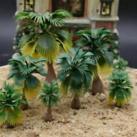 15pcs Model Palm Tree Train Railroad Diorama Wargame Park Scenery Layout