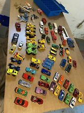 Huge Lot Hot Wheels 75 Cars Trucks Semis Airplanes Diecast Toys, Comes with Case