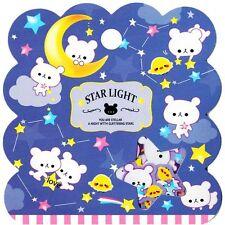 50X Kawaii Starry Night Bear Flake Stickers Sack Cute Alpaca Japanese Stationery