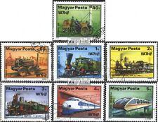 Ungarn 3343A-3349A (kompl.Ausgabe) gestempelt 1979 Entwicklung der Eisenbahn EUR
