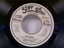 "LENE LOVICH ""THE NIGHT / SAME"" 45 PROMO"