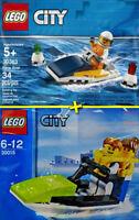 LEGO City #30015 + #30363 - Jet Ski + Race Boat - 100% New / Neuf - Sealed