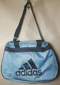 "Adidas Sports Gym Duffle Bag Light Blue/Black RN# 90288.. 18"" x 10"""