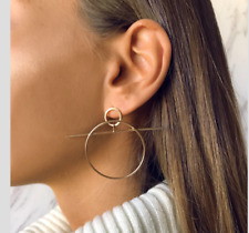 Silver Gold Hoop Trendy Story Blogger Instagram Earrings Zara