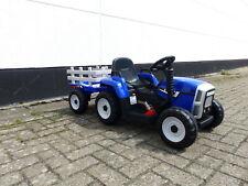 Kinder Elektroauto Traktor Kinderauto Kinderfahrzeug Elektro 2x25 W Blau