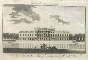 1779 Antique Print; Wanstead House, Redbridge, London
