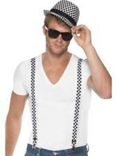 Ska années 80 folie MUSIQUE Célébrité Kit chapeau+bretelles noir carreaux blanc