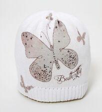 CATYA Sommermütze mit Schmetterling und Kristallen* weiß 100% Baumwolle  NEU