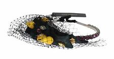 NEW $1200 DOLCE & GABBANA Diadem Headband Tiara Pear Fruit Crystal Bow Hair