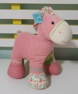 Baby Gund Pinkaboo Pony 24CM Plush Calico Patchwork Horse Lovey #59057 Sewn Eyes