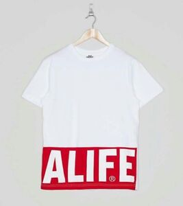Alife - Blocked Logo Tee T-Shirt - Various Sizes - New with Tags - White
