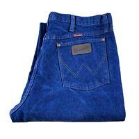 WRANGLER 31MWZPW Men's Cowboy Cut Slim Fit Dark Wash Blue Denim Jeans 35x34