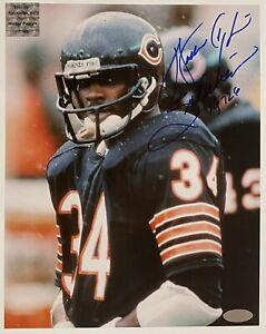 "Walter Payton signed ""Rain"" 8x10 Photo Steiner inscription ""Sweetness"" ""16,726"""