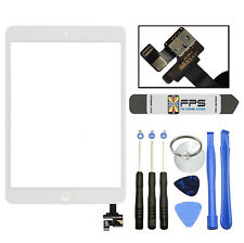 iPad mini 1 2 Touch Digitizer Screen + IC Connector Home Button Assembly (White)