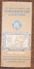 vintage RAC Bartholomew quarter inch map 12  N & W Highlands Scotland