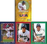 (4) CARD-2010 3 Card Cedar Rapids set & 1 2010 Minor League RC Mike Trout ANGELS