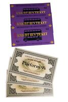 Replica Billete Anden 9 y 3/4 y Ticket Bus Noctambulo Harry potter Buena calidad