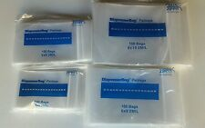 400 ZIP LOCK BAGS ASSORTMENT 4 SIZES 4x6 5x8 6x9 8x10 CLEAR 2MIL POLY BAGS LARGE