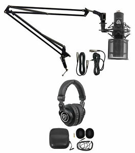 Rockville PC Gaming Streaming Twitch Bundle: RCM PRO Microphone+Headphones+Boom