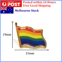 LGBT Rainbow Flag Gay Pride Enamel Lapel Pin Badge