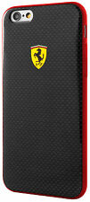 Ferrari Scuderia Carbon Effect Flexible TPU Case for Apple iPhone 6/6S - Black