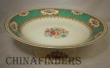 EMPIRE china MAJESTIC green pattern FOOTED COMPOTE